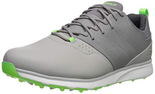 Skechers Men's Mojo Waterproof Golf Shoe, Gray/Lime, 8 W US