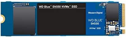 Western Digital 500GB WD Blue SN550 NVMe Internal SSD - Gen3 x4 PCIe 8Gb/s, M.2 2280, 3D NAND, Up to 2,400 MB/s -...