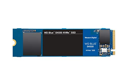 Western Digital 500GB WD Blue SN550 NVMe Internal SSD - Gen3 x4 PCIe 8Gb/s, M.2 2280, 3D NAND, Up to 2,400 MB/s - WDS500G2B0C