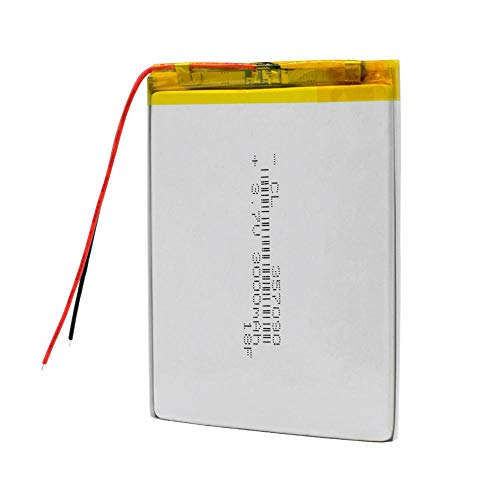 wangxiaoping 3000mAh 3.7V 357090 polymer lithium ion Battery Replacement Battery For MP5 DVD GPS Camera Tablet E-book Electric Toy-3.7V_1Pc