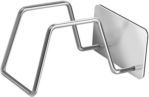 YLCJ schoenenkast, wand, roestvrij staal, zonder boren badkamer, hangend achter de deur. Houder voor afvoergarnituren (maat: kort)
