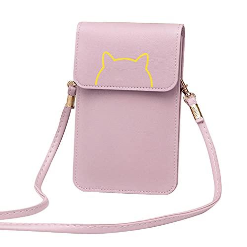 Ceyka Touches Screen PU läder blöjväska kvinnor crossbody mobilväska plånbok för telefonnycklar kontantkort