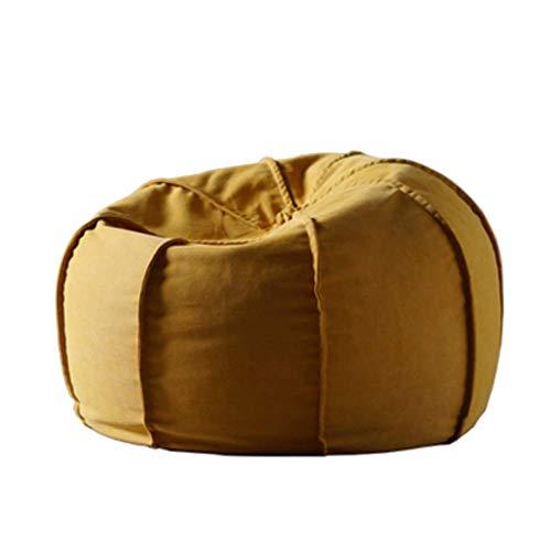 Sofá Portátil Sofá Sofá Nórdico Lazy Sofá Bolsa De Frijoles Simple Tela Tatami Silla Dormitorio Creativo Individual Reclinable con Personalidad Extraíble Y Lavable (Color: Amarillo)