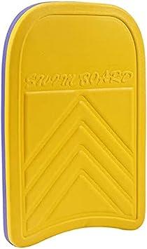 HLD Tablas de Surf Tablero de Patada Plancha para niños Niños Adulto Piscina Entrenamiento Auxiliar Tablero Flotante Cuadrado Tablero Durable Yellow y Purple Steins Tablas de Surf