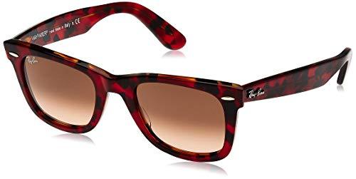 Ray-Ban 0RB2140 Gafas de Sol, Top TR Red On Orange Havana, 50 Unisex