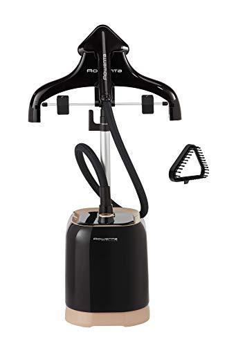 Rowenta IS3420 Fashion Steam Dampfglätter (1700 Watt, Dauerdampfmenge: 30 g/Min., Wassertank Kapazität: 1,5 Liter, Vertikaldampf, inkl. Bürstenaufsatz) schwarz/kupfer