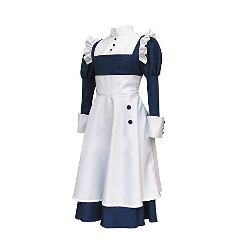 Anime Black Butler Cosplay Kostüm Mey-Rin Dienstmädchen Schürze Outfit Lolita Kleid Uniform Halloween Anzug für Frauen