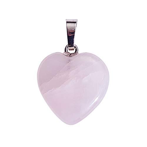 Airssory 1 pieza colgantes de piedras preciosas de cristal de cuarzo rosa...