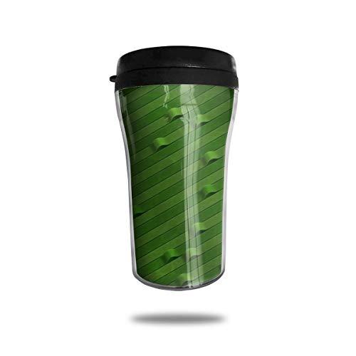 OUYouDeFangA - Taza de café con diseño de líneas de origami de viaje, con impresión 3D, portátil, taza de té, con aislamiento, para beber con tapa, 250 ml