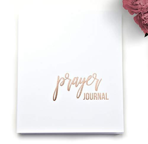 Prayer Journal With Blank Pages, Prayer Diary, Prayer Journal For Women.130 Blank Pages, 8.5' x 7.25', Journal For Christian Women, Bible Study Book, Bible Journaling, Sermon Notes, Prayer Book (WH)