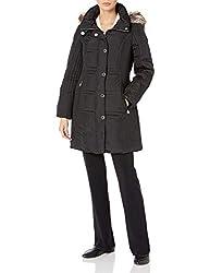 cheap Anne Klein Medium Down Coat Women's Black X-Small