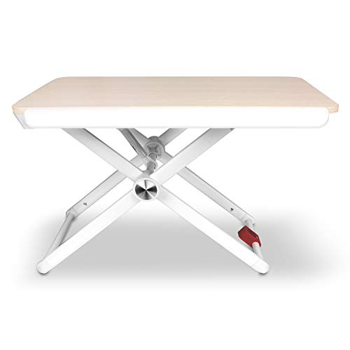 Aluratek Adjustable Ergonomic Standing Desk, Supports MacBook Pro, MacBook Air, Chromebook, Ultrabook, Netbooks, Tablets, Surface, and All laptops up to 17 inches (ASD17F)