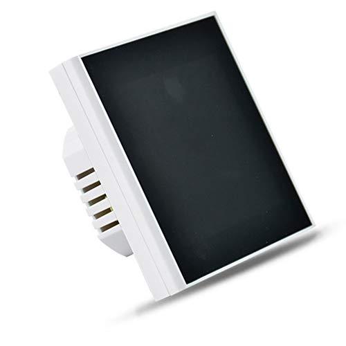 TOOGOO Controlador de Temperatura Wifi Inteligente Control de Aplicaciones Termostato InaláMbrico para Caldera EléCtrica, de Agua y de Gas, Color Blanco