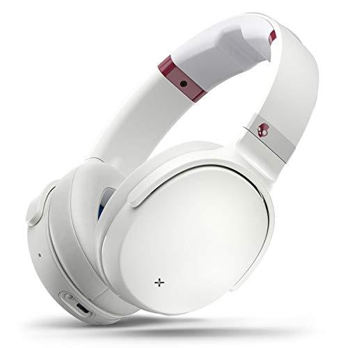 Skullcandy Venue Active Auriculares con cancelación de ruido, Bluetooth Inalámbricos, Tecnología Tile integrada, Batería con 24 Horas de Duración, Materiales de Calidad Premium, Blanco/Carmesí