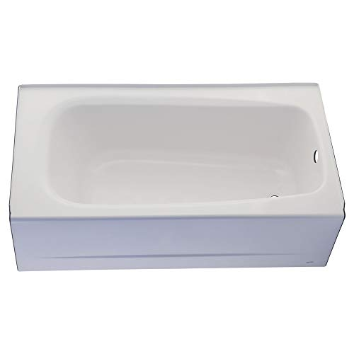 American Standard 2461002.020 Cambridge Apron-Front Americast Soaking Bathtub Right Hand Drain, 5 ft x 32 in, White