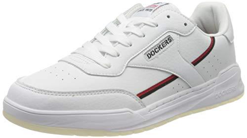 Dockers by Gerli Herren 46RM001-610501 Sneaker, Weiß (Weiss/Schwarz 501), 46 EU