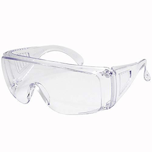 SPOSUNE Schutzbrille - Faltbare Arbeitsschutzbriller für Brillenträger Anti Nebel Klar Design Aufprall- Und Spritzfest, Geeignet für Baustelle Holzbearbeitung Chemischen Labor ANSI Z87.1
