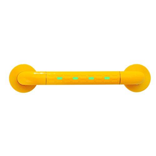 FMX leuning voor heren, verlicht, voor badkamer, toilet, openbare ruimtes, roestvrij staal, zonder hinderlijke barrières, veiligheidsleuning oranje 58 cm