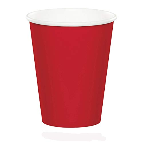 Creative Converting Celebrations 96-Count 9 oz. Hot/Cold Cups, Classic Red -