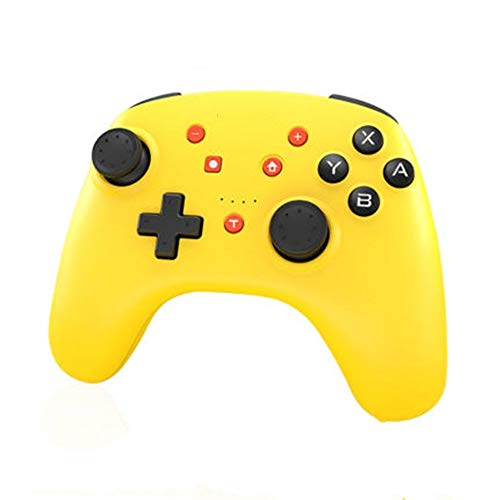 CHENSHJI Contrôleur de Jeu sans Fil Contrôleur de Jeu Bluetooth Wireless Gamepad Peut être utilisé for Ordinateur Mobile Jaune (Color : Yellow, Size : 15.3x11.1x6.1cm)