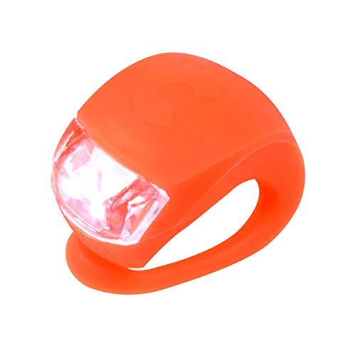 MICRO LED Lumière de Sécurité Cyclisme Enfant, Jeunesse, Mixte, Orange, Taille Unique