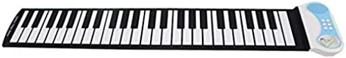 Puzzle Klavier Hand Roll Klaviertastatur 37 Tasten Anf er Kinder Praxis Tragbaren Blau