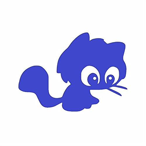 Pegatinas Divertidas 15.1x10.9cm Gato de Dibujos Animados Lindo Divertido Vinilo calcomanía Windows Etiqueta engomada del Coche (Color : 8)