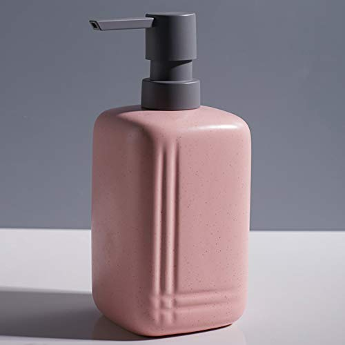 QLTY Ceramic Soap Dispenser,Empty Pump Dispenser Bottles,Hand Sanitizer Press Bottle,Lotion Bottle,Pump Bottle,for Shampoo Shower Gel Lotion