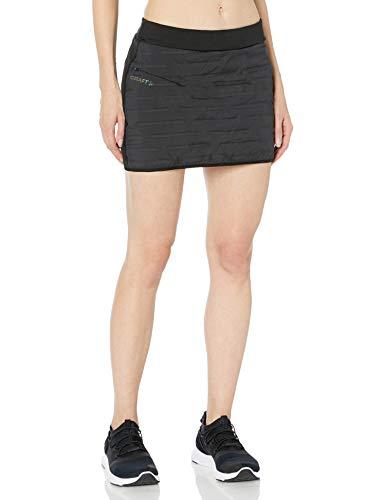 Craft Women's Subz Padded Cold Weather Reflective Running Skirt, Black, Medium
