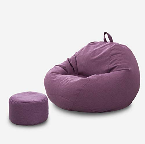 AGLOAT Sitzsack Sessel Erwachsene,Bean Bag Chair Big Sofa Portable Living Room,Sitzsack 2 In 1 Funktion,Sitzsäcke Für Jugendliche/Kinder,Hochwertiger Baumwoll- Und Leinenstoff,Lila-XL