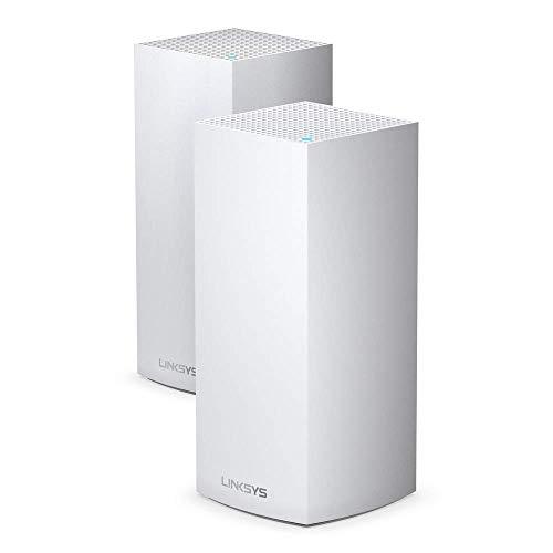 Linksys MX8400 - Sistema Velop WiFi 6 mesh tribanda para todo el hogar (router/extensor WiFi AX4200, 525 m² de cobertura, velocidades 3,5 veces más rápidas, más de 80 dispositivos, 2 nodos) blanco