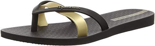 Ipanema Damen Silk Premium Plateausandalen, Schwarz (Schwarz/Gold), 41.5 EU