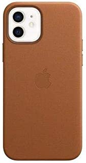 Apple Leather Case with MagSafe (for iPhone 12 | 12 Pro) - Saddle Brown