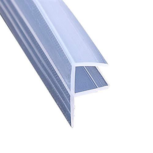 SPLLEADER 1M H F U-Form-Glastürdichtungen Silikon-Gummi Duscheck Tür-Fenster-Glasdichtungsstreifen Keder 6 bis 12 mm Glas (Shape : F, Thickness : 6mm)