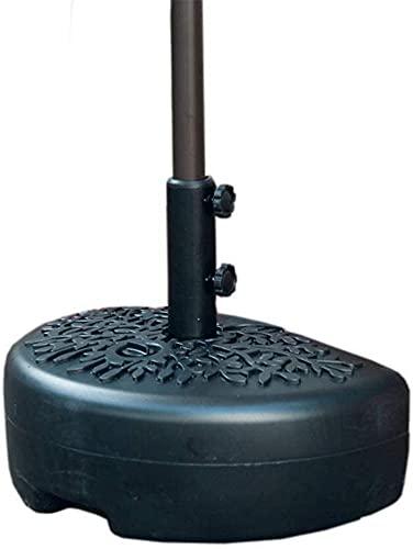 Soporte para sombrilla Base de sombrilla de agua en forma de luna/arena para patio Adecuado para media base de sombrilla, Asiento de sombrilla de pared (lleno con aproximadamente 18 kg) Sombrilla d
