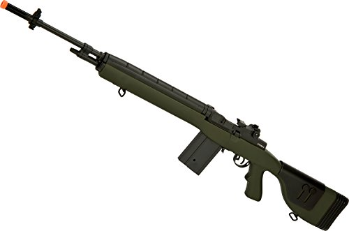 Evike - CYMA Full Size M14 Airsoft AEG with Polymer DMR Style Stock (Color: OD Green/Gun Only)