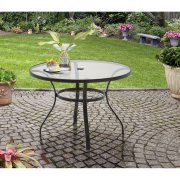 Mainstay Heritage Park Round Dining Table, Brown