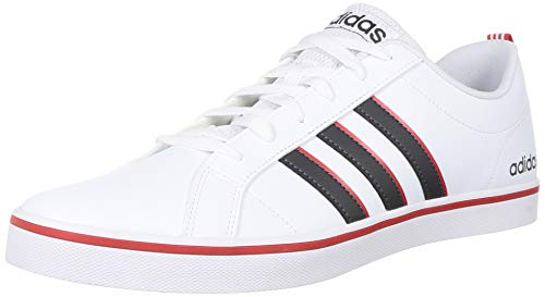 Adidas VS Pace, Sneaker Mens, Footwear White/Grey/Active Red, 42 2/3 EU