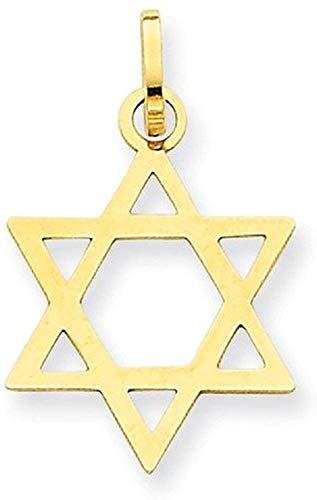 PRINS JEWELS 14 Karat 585 Davidstern Anhänger Glänzend Gelbgold
