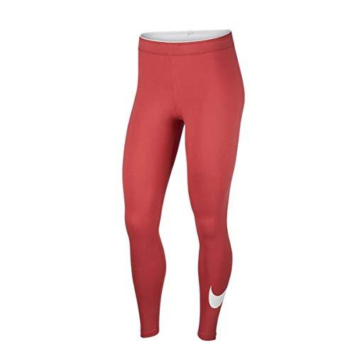 NIKE Women's Sportswear Legging Mallas y Leggings, Mujer, Light Redwood/White, XL