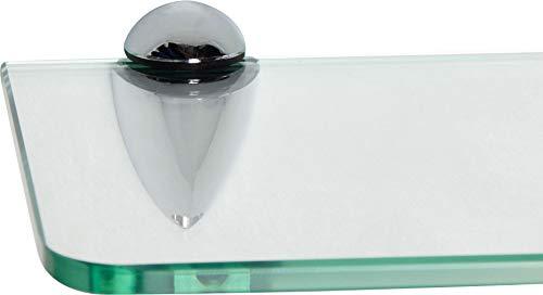 ib style Mensola in ventro | 8mm |incl. clip BECCO cromato |arrotondata | 6 dimensioni | 40 x 15 cm