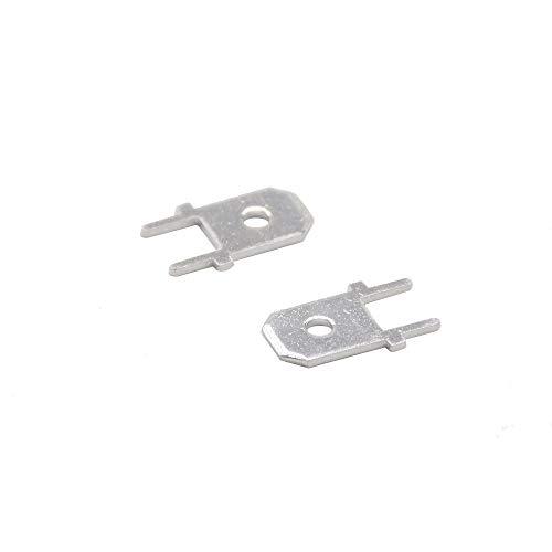 WFBD-CN Batterieklemmen 6.3 Einsätze Stecker Steckeranschluss 250 PCB Solder Lug Stärke 0,8 Zwei Beine, PCB Schweißblatt