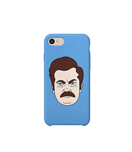 Ron Swanson Face Blue Sexy Eyes Protective Case Handyhulle Handyhulle Funda Cover Funda Compatible con iPhone 7 Plus Funny Gift Christmas Birthday Novelty