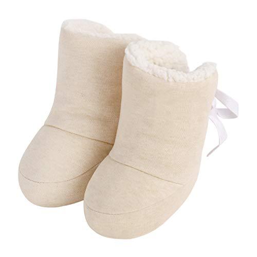 Lammwolle Babyschuhe Winter Erstlingsschuhe Taufschuhe Babyschühchen Babysocken,Baby Baumwollschuhe, Lauflernschuhe, 0-12 Monate, 1 Paar