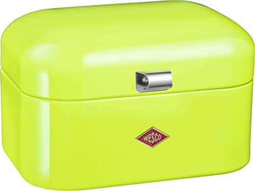 WESCO 235 101 Single Grandy Brotkasten lemongrün 22 x 28 x 17cm (L/B/H), Stainless_Steel
