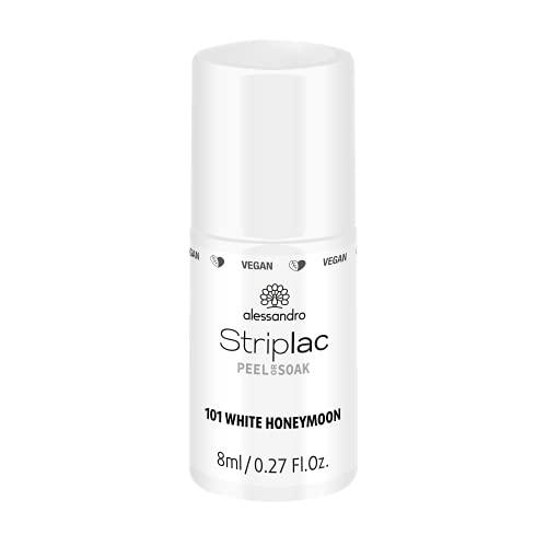 alessandro Striplac Peel or Soak -VEGAN- WHITE HONEYMOON – LED-Nagellack in strahlendem Weiß – Für perfekte Nägel in 15 Minuten, 8ml