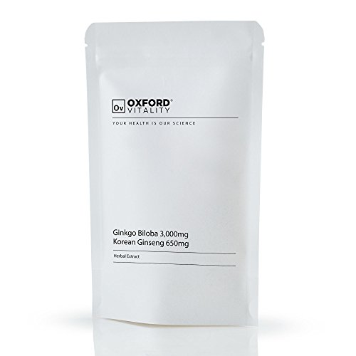 Oxford Vitality - Ginkgo Biloba 3000mg und Ginseng 650 mg Tabletten