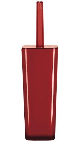 Kleine Wolke, Scopino per WC 5061459856 Easy WC-Bürstenhalter mohnrot, Rosso (Rot)