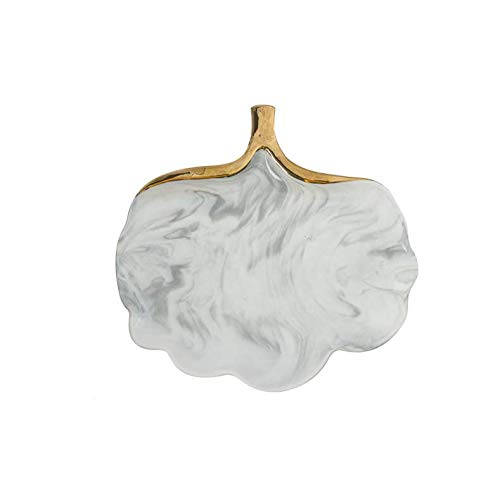 qnmbdgm Platte Keramik Glod Marmor Keramik Teller Teller Suppe Reis Schüssel Suppe Salat Platte Schmuck Teller Ablageschale Dekorative Geschirr