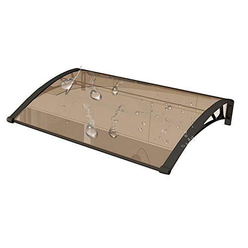 WXQ Toldo para porche de patio, toldo para puerta de mudo, cubierta para exterior de elementos naturales como lluvia, nieve y vientos (color: marrón + negro, tamaño: 100 x 120 cm)